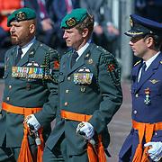 NLD/Den Haag/20180831 - Koninklijke Willems orde voor vlieger Roy de Ruiter, samen met Marco Kroon en Gijs Tuinman