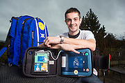 SANDPIPER TRUST PICTURE RE DEFIBULATOR STORY ..  PIC OF FIREMAN GREG WILSON WHO SUFFERED A CARDIAC ARREST AT THE AGE OF 22<br /> PIC DEREK IRONSIDE / NEWSLINE MEDIA LTD