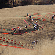 Competitors tackle the course during the New Zealand Cyclocross Championships sponsored by AJ Hackett Bungy, held at Jardine Park,  Queenstown, as part of the Queenstown WInter Festival. The men's event was won by Dan Warren from Hastings while Anja McDonald from Dunedin won the women's event. Queenstown, New Zealand, 2nd July 2011