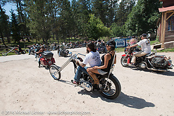 The Nemo Guest Ranch on the Annual Cycle Source and Michael Lichter Rides (combined this year) left from the new Broken Spoke area of the Iron Horse Saloon during the Sturgis Black Hills Motorcycle Rally. SD, USA.  Wednesday, August 10, 2016.  Photography ©2016 Michael Lichter.