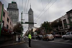 The Torre Latinoamericano in Mexico City.