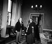 President Childers receives the Dalai Lama at Aras an Uachtarain<br /> 10/10/1973