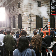 USA/New York/20090910 - Opname nieuwe videoclip van Rob Thomas, voormalig zanger van Matchbox TwentyOne, in de straten van Manhattan New York