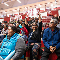 The crowd for the Navajo Nation Presidential Candidates Debate, Tuesday, Oct. 16, 2018 at Navajo Technical University in Crownpoint.