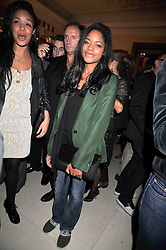 Actress NAOMI HARRIS at a party hosted by Mulberry during London fashion Week 2009 at Claridge's Hotel, Brook Street, London on 20th September 2009.