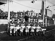 Soccer - St Patrick's Athletic vs Cork at Chapelizod, Dublin.13/02/1955