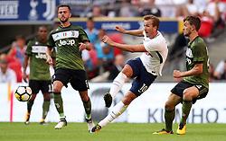 Tottenham Hotspur's Harry Kane (centre) during the pre-season friendly match at Wembley Stadium, London.