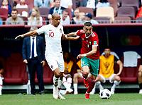 Joao Mario (Portugal) anf Hakim Ziyach (Morocco)<br /> Moscow 20-06-2018 Football FIFA World Cup Russia  2018 <br /> Portugal - Morocco / Portogallo - Marocco <br /> Foto Matteo Ciambelli/Insidefoto