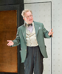 Once in a Lifetime <br /> by Moss Hart & George S. Kaufman <br /> adapted by Christopher Hart <br /> directed by Richard Jones <br /> at Young Vic Theatre, London, Great Britain <br /> Press photocall <br /> 5th December 2016 <br /> <br /> Harry Enfield as Glohauer <br /> <br /> <br /> <br /> Photograph by Elliott Franks <br /> Image licensed to Elliott Franks Photography Services