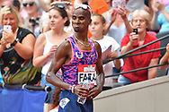 Mo Farah (GBR) before his 3000m Men race during the Muller Anniversary Games at the London Stadium, London, England on 9 July 2017. Photo by Jon Bromley.