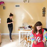 Erin talks to Brooklyn's tutor as via Zoom.