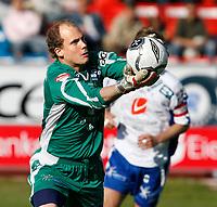 Fotball , 5. juni 2006 Adeccoligaen, Haugesund - Kongsvinger<br /> Haugesunds keeper Per Morten Kristiansen<br /> Foto: Jan Kåre Ness , Digitalsport