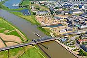 Nederland, Gelderland, Zutphen, 29-05-2019; spoorbrug over rivier De IJssel en bedrijventerrein De Mars.<br /> Railway bridge over river De IJssel and business park De Mars.<br /> <br /> luchtfoto (toeslag op standard tarieven);<br /> aerial photo (additional fee required);<br /> copyright foto/photo Siebe Swart