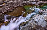 Sacred Dancing Cascade in McDonald Creek in Glacier National Park, Montana, USA