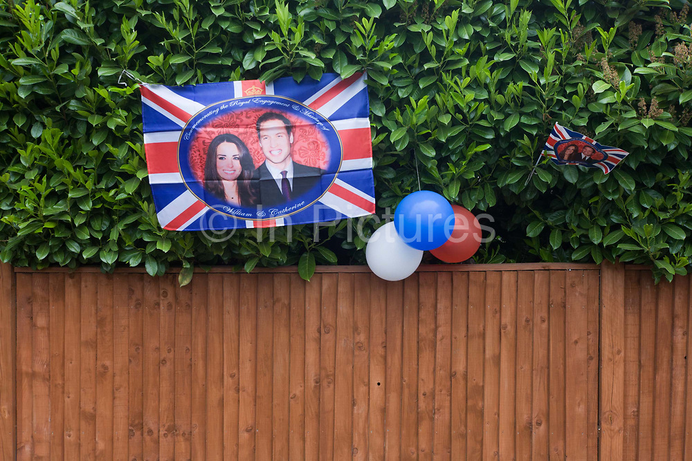 Neighbours and friends in Burbage Road, Dulwich south London, celebrate the royal wedding of Prince William and Kate Middleton (now called the Duke and Duchess of Cambridge). Across the UK, 5,500 formal road closures (825 in London) were arranged with local authorities and residents held traffic-free events, the like of which haven't been seen since the ill-fated wedding of Charles and Diana in 1981 – in the traditions of Victorian and end of war eras.