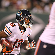 Rashad Ross, Chicago Bears, in action during the New York Jets Vs Chicago Bears, NFL regular season game at MetLife Stadium, East Rutherford, NJ, USA. 22nd September 2014. Photo Tim Clayton for the New York Times