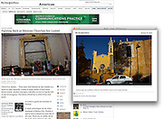 """""""Fighting Back as Mexican Churches Are Looted"""", The New York Times, Mexico, January 15, 2013. Photographs by Rodrigo Cruz."""
