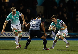 Connacht's Eoin McKeon lines up Cardiff Blues' Taufa'ao Filise<br /> <br /> Photographer Simon King/Replay Images<br /> <br /> Guinness Pro14 Round 9 - Cardiff Blues v Connacht Rugby - Friday 24th November 2017 - Cardiff Arms Park - Cardiff<br /> <br /> World Copyright © 2017 Replay Images. All rights reserved. info@replayimages.co.uk - www.replayimages.co.uk