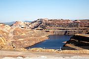 Opencast mineral extraction in the Minas de Riotinto mining area, Huelva province, Spain