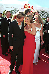 Brad Pitt and Jennifer Aniston arrive at the 52nd Annual Emmy Awards at the shrine auditorium in Los Angeles, CA, USA on September 11, 200. Photo by ABACAPRESS.COM