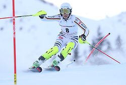 28.01.2018, Lenzerheide, SUI, FIS Weltcup Ski Alpin, Lenzerheide, Slalom, Damen, 1. Lauf, im Bild Lena Duerr (GER) // Lena Duerr of Germany in action during her 1st run of ladie's Slalom of FIS ski alpine world cup in Lenzerheide, Austria on 2018/01/28. EXPA Pictures © 2018, PhotoCredit: EXPA/ Sammy Minkoff<br /> <br /> *****ATTENTION - OUT of GER*****
