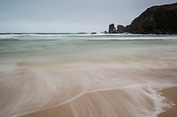 Incoming wave at Dalmore beach, Isle of Lewis, Outer Hebrides, Scotland
