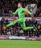 1. Joel Robles (Everton) goal celebration during the The FA Cup match between West Ham United and Everton at the Boleyn Ground, London, England on 13 January 2015. Photo by Matthew Redman.