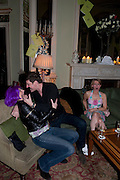 KAREN ROBERTS; PAUL SURETY; LOUISE ROBERTS, Svletlana and Jawek's Asylum seekers arranged marriage valentines party. Home House. 12 February 2010
