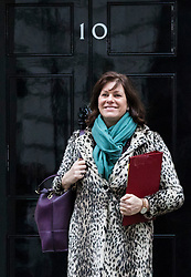 © Licensed to London News Pictures. 09/01/2018. London, UK. Minister of State at Department for Business, Energy and Industrial Strategy Claire Perry leaves 10 Downing Street after the first meeting of the Cabinet after Prime Minister Theresa May's reshuffle. Photo credit: Rob Pinney/LNP