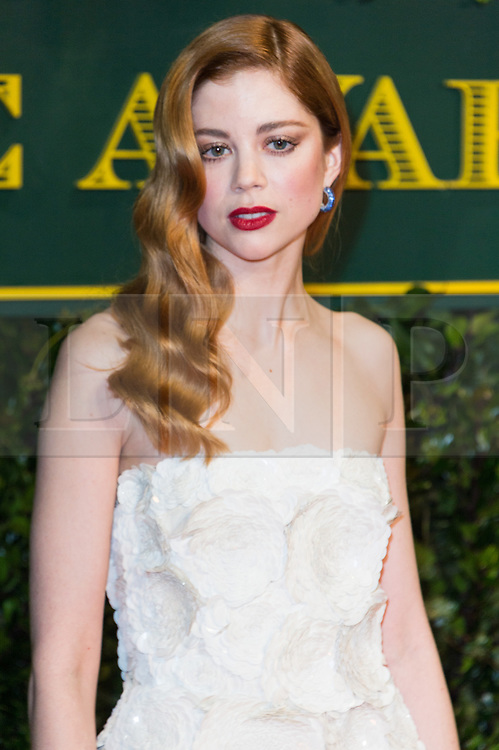 © Licensed to London News Pictures. 03/12/2017. London, UK. CHARLOTTE HOPE attends the London Evening Standard Theatre Awards 2017 held at the Theatre Royal, Dury Lane. Photo credit: Ray Tang/LNP