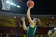 March 18, 2016; Tempe, Ariz;  Green Bay Phoenix guard Kaili Lukan (4) puts up a layup during a game between No. 7 Tennessee Lady Volunteers and No. 10 Green Bay Phoenix in the first round of the 2016 NCAA Division I Women's Basketball Championship in Tempe, Ariz.