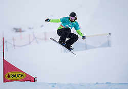 16.12.2012, Montafon Seebliga, Schruns, AUT, FIS Snowboard Cross Weltcup, Trainig, Damen, im Bild Zuzanna Smykala (POL) // Zuzanna Smykala of Poland in action during lady's trainig round of the at the Montafon Seebliga course, Schruns, Austria on 2017/12/16. EXPA Pictures © 2012, PhotoCredit: EXPA/ Peter Rinderer