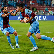 Trabzonspor's Oscar Cardozo (R) during their Turkish Super League match Trabzonspor between Gaziantepspor at the Avni Aker Stadium at Trabzon Turkey on Wednesday, 28 October 2015. Photo by Aykut AKICI/TURKPIX
