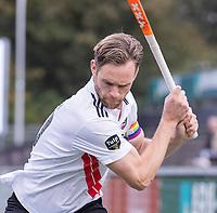 AMSTELVEEN - Mirco Pruyser (Amsterdam) met regenboog  aanvoerdersband   tijdens de competitie hoofdklasse hockeywedstrijd heren, Amsterdam -Rotterdam (2-0) .  COPYRIGHT KOEN SUYK
