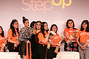 Step Up students, Step Up seniors 2018, and actress Jaina Lee Ortiz (center)