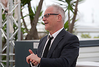 Festival Director Thierry Fremaux welcomes press photographers to the the 69th Cannes Film Festival Wednesday 11th May 2016, Cannes, France. Photography: Doreen Kennedy