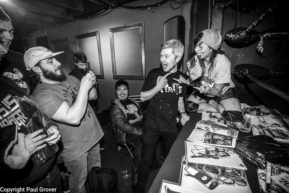 Photo Dispatch. Pic Shows Women Wrestlers performing at the EVE event at the Resistance Gallery in Bethnal Green.Photo Dispatch.Pic Shows 'Meet and Greet' fans get to meet the wrestlers pre-show