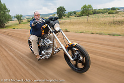 Aidan's Ride to raise money for the Aiden Jack Seeger nonprofit foundation to help raise awareness and find a cure for ALD (Adrenoleukodystrophy) during the annual Sturgis Black Hills Motorcycle Rally. Riding the cut-off Fort Meade Way between I-90 and the Buffalo Chip, SD, USA. Tuesday August 8, 2017. Photography ©2017 Michael Lichter.