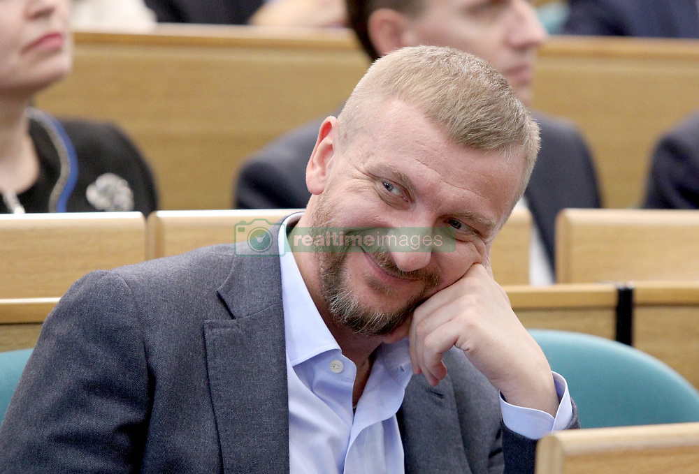 March 21, 2019 - Kyiv, Ukraine - Minister of Justice of Ukraine Pavlo Petrenko attends a meeting to hear a report on the first year of the new composition of the  Accounting Chamber, Kyiv, capital of Ukraine, March 21, 2019. Ukraine's Accounting Chamber controls the revenues and spendings of the national budget on behalf of the parliament. Ukrinform. (Credit Image: © Danil Shamkin/Ukrinform via ZUMA Wire)