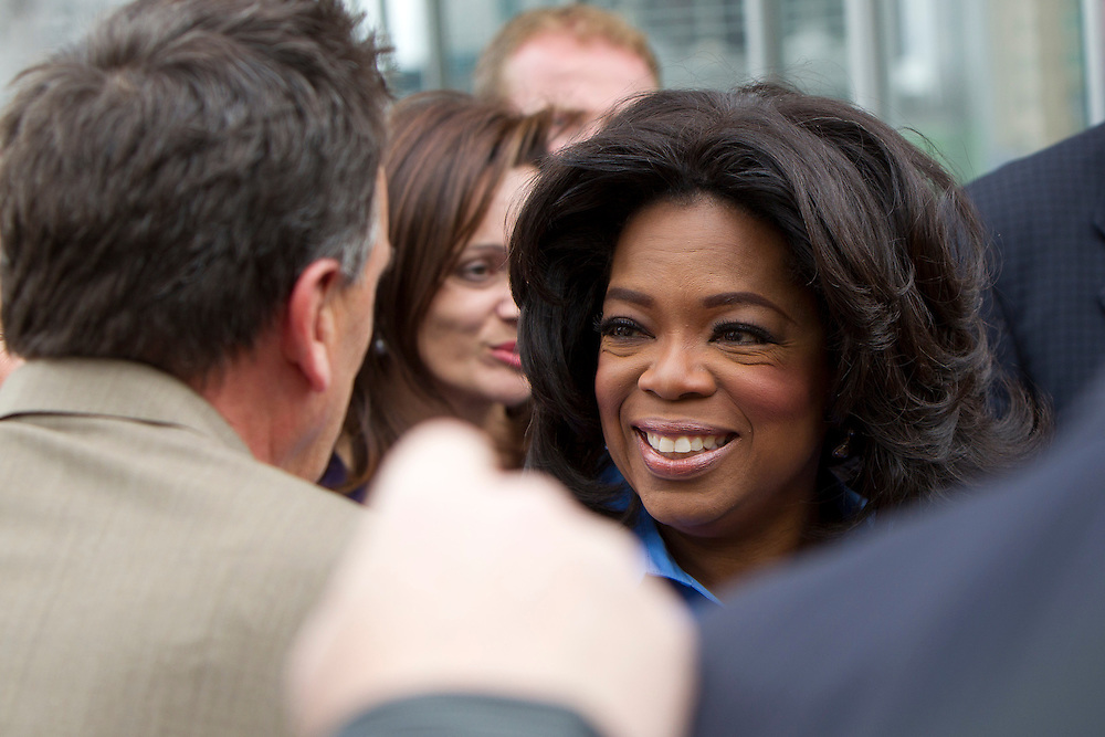 Oprah Winfrey arrives to address the crowd of 12,000 people gathered for a public event at Federation Square on December 10, 2010 in Melbourne, Australia. Oprah Winfrey is in Australia with 302 audience members from the US, Canada and Jamaica and will tape episodes of the 25th and final season of 'The Oprah Winfrey Show' from the Sydney Opera house next week. The shows will air in the US and Australia in January 2011.
