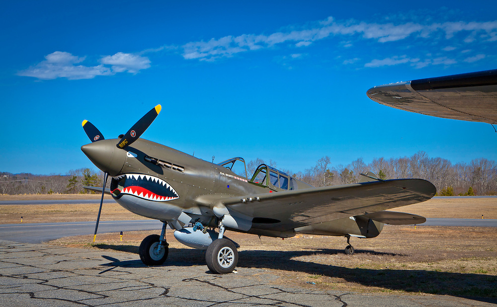 Fully restored to flying condition, this P-40 War Hawk is owned and operated by the Liberty Foundation.