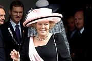 Zijne Hoogheid Prins Floris van Oranje Nassau, van Vollenhoven en mevrouw mr. A.L.A.M. Söhngen zijn donderdag 20 oktober in het stadhuis van Naarden in het burgelijk huwelijk getreden. De prins is de jongste zoon van Prinses Magriet en Pieter van Vollenhoven.<br /> <br /> 20OCT, 2005 - Civil Wedding Prince Floris and Aimée Söhngen. <br /> <br /> Civil Wedding Prince Floris and Aimée Söhngen in Naarden. The Prince is the youngest son of Princess Margriet, Queen Beatrix's sister, and Pieter van Vollenhoven. <br /> <br /> Op de foto / On the photo;<br /> <br /> Koningin Beatrix / Queen Beatrix