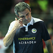 Fenerbahce Acibadem's coach Jose Roberto Lages GUIMARAES during their Women's Volleyball CEV Champions League semi final match at Burhan Felek Arena in Istanbul, Turkey on 20 March 2011. Photo by TURKPIX