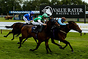 Hope is High ridden by Megan Nicholls trained by John Berry wins the Doubletree By Hilton EBF Fillies' Handicap Stakes (Class 4) - Mandatory by-line: Robbie Stephenson/JMP - 04/09/2019 - PR - Bath Racecourse - Bath, England - Bath Races
