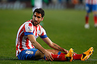 03.02.2013 SPAIN -  La Liga 12/13 Matchday 22th  match played between Atletico de Madrid vs Real Betis Balompie (1-0) at Vicente Calderon stadium. The picture show  Raul Garcia (Spanish midfielder of At. Madrid)
