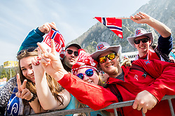 Fans of Norway after the Ski Flying Hill Men's Team Competition at Day 3 of FIS Ski Jumping World Cup Final 2017, on March 25, 2017 in Planica, Slovenia. Photo by Vid Ponikvar / Sportida