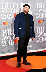 February 21, 2019 - London, London, United Kingdom - Image licensed to i-Images Picture Agency. 20/02/2019. London, United Kingdom. Tom Walker at the Brit Awards in London. (Credit Image: © i-Images via ZUMA Press)