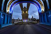 Britain Tower Bridge stuck open