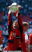 Ruud Van Nistelrooy Manchester United celebrates with the FA Cup<br />Manchester United v Millwall F/A Cup Final 22/05/04<br />Photo Robin Parker Fotosports International