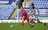 Middlesbrough's George Saville breaks away from Reading's Michael Morrison<br /> <br /> Photographer Andrew Kearns/CameraSport<br /> <br /> The EFL Sky Bet Championship - Reading v Middlesbrough - Saturday 20th February 2021 - Madejski Stadium - Reading<br /> <br /> World Copyright © 2021 CameraSport. All rights reserved. 43 Linden Ave. Countesthorpe. Leicester. England. LE8 5PG - Tel: +44 (0) 116 277 4147 - admin@camerasport.com - www.camerasport.com